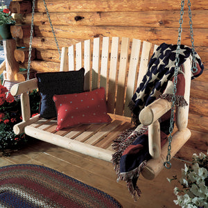 Cedar Looks Log 4ft Porch Swing