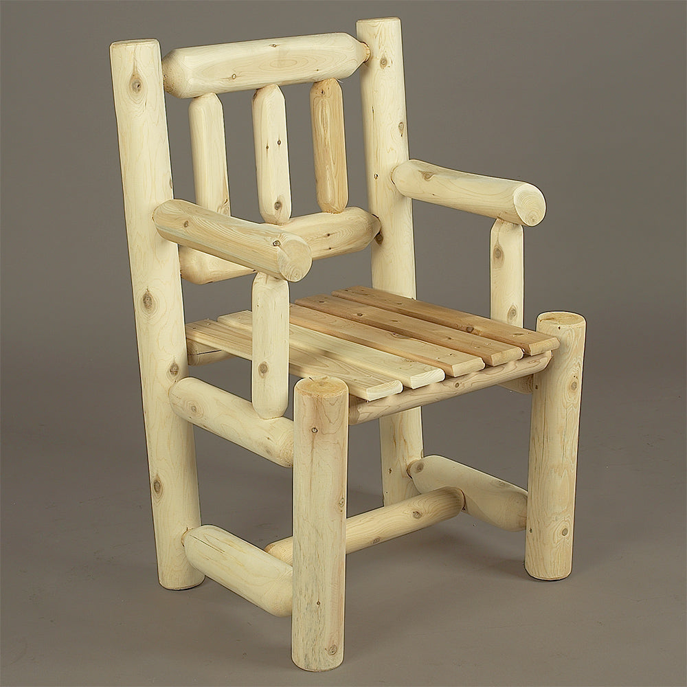 Cedar Looks Log Captain's Chair