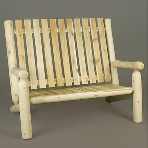 Cedar Looks Log High Back Settee