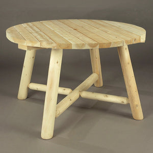 Cedar Looks Round Log Table