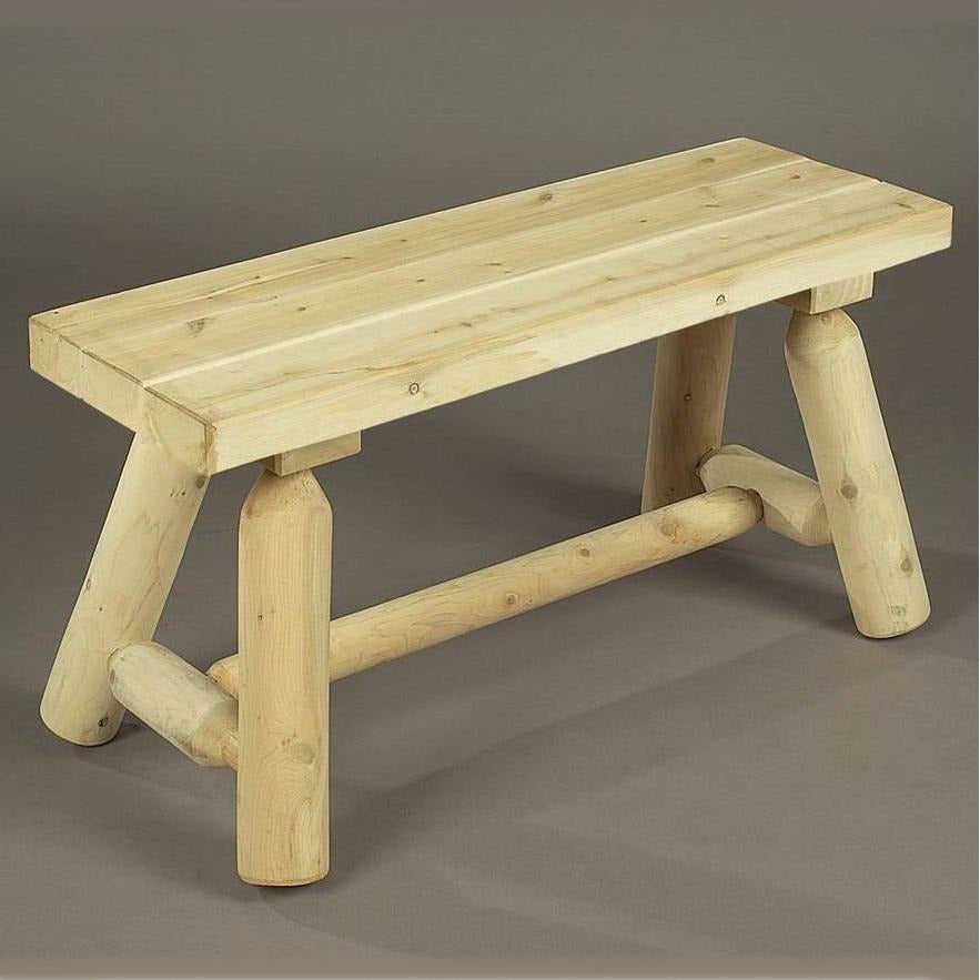 Cedar Looks Straight Log Bench