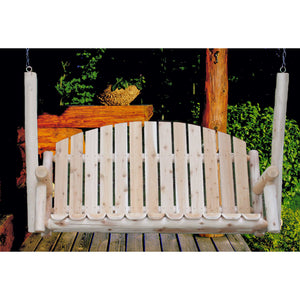Lakeland Mills Cedar Country Garden Porch Swing - 5 Foot - Swing Chairs Direct