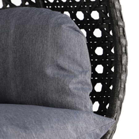 Alfresconova Deluxe Double Seat Wicker Hanging Chair With Cushion Cha Swing Chairs Direct