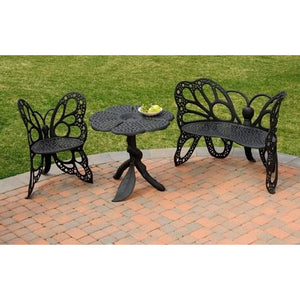FlowerHouse Butterfly Garden Set with Table, Chair and Bench - Swing Chairs Direct