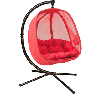 Flower House Hanging Egg Chair with Cushion - Swing Chairs Direct