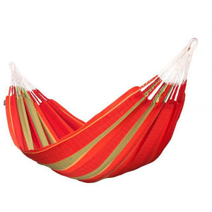 Flora Organic Cotton Kingsize Classic Hammock by La Siesta - Chilli - Swing Chairs Direct