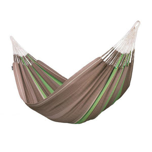 Flora Organic Cotton Kingsize Classic Hammock by La Siesta - Chocolate - Swing Chairs Direct