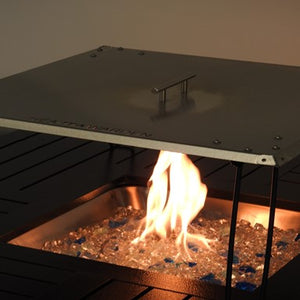 Fire Pit Heat Deflector in Stainless Steel = 02