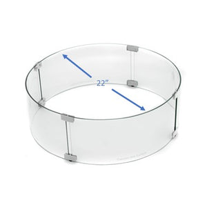 Fire Pit Round Glass Wind Screen - 02