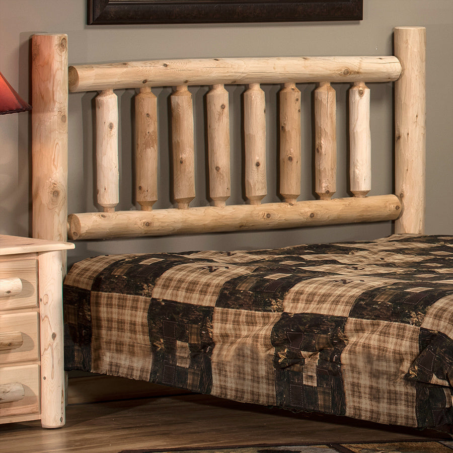 Lakeland Mills Cedar Log Queen Headboard ONLY