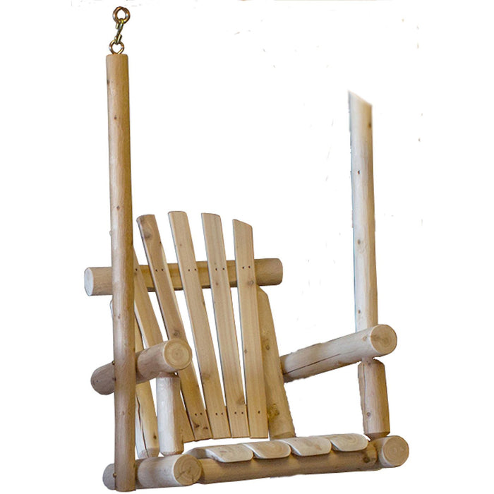 Lakeland Mills Single Chair Cedar Porch Swing - Swing Chairs Direct