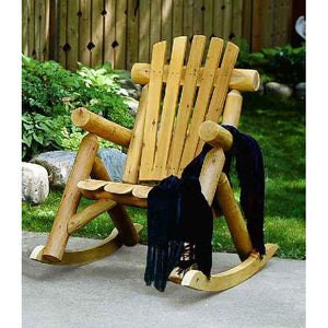Lakeland Mills Log Rocking Chair - Swing Chairs Direct