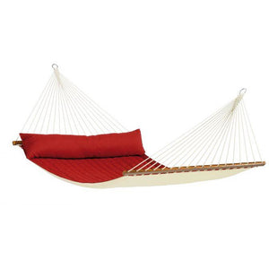 Alabama Quilted Kingsize Spreader Bar Hammock by La Siesta - Red Pepper - Swing Chairs Direct