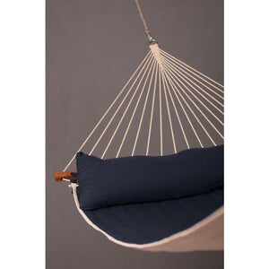 Alabama Quilted Kingsize Spreader Bar Hammock by La Siesta - Navy Blue - Swing Chairs Direct
