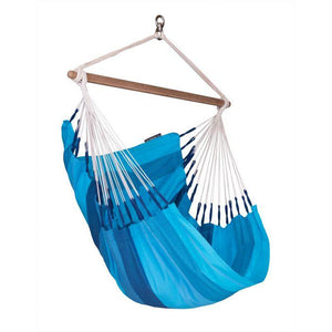 Orquidea Cotton Basic Hammock Chair by La Siesta - Lagoon