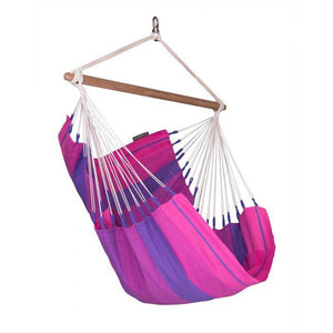 Orquidea Cotton Basic Hammock Chair by La Siesta - Purple