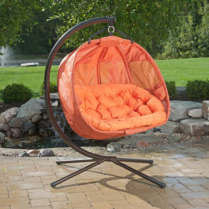 Flower House Pumpkin Love Seat Chair with Cushion