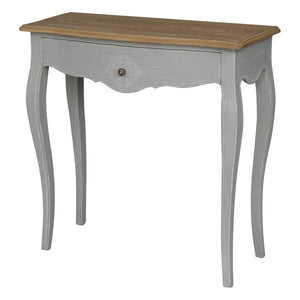 Ashbury Stradivarius Oak Veneer One-drawer Console Table Antique Grey