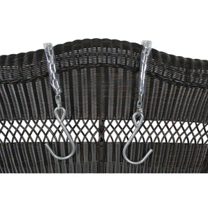 Tortuga Portside Porch Swing, Dark Roast - Hardware