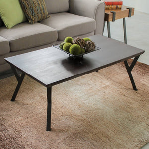 Hamburg Contemporary Contemporary MDF/Metal Coffee Table Sonoma Oak Wood Veneer