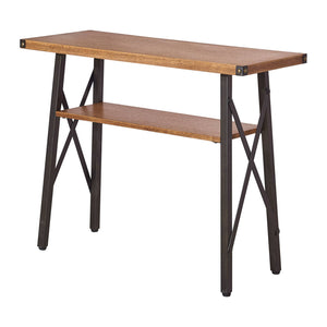 Hamburg Contemporary Laredo Oak Console Table Brown