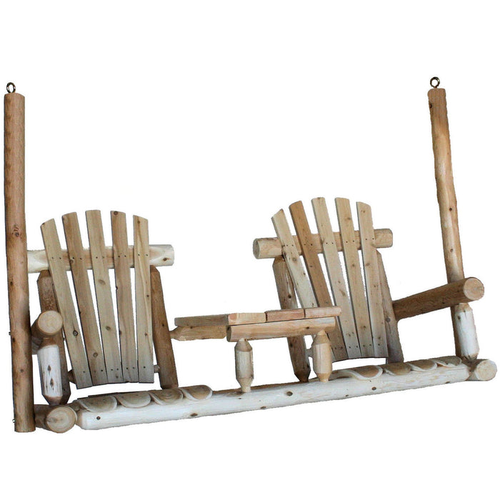 Lakeland Mills Cedar Tete-A-Tete Porch Swing - Swing Chairs Direct
