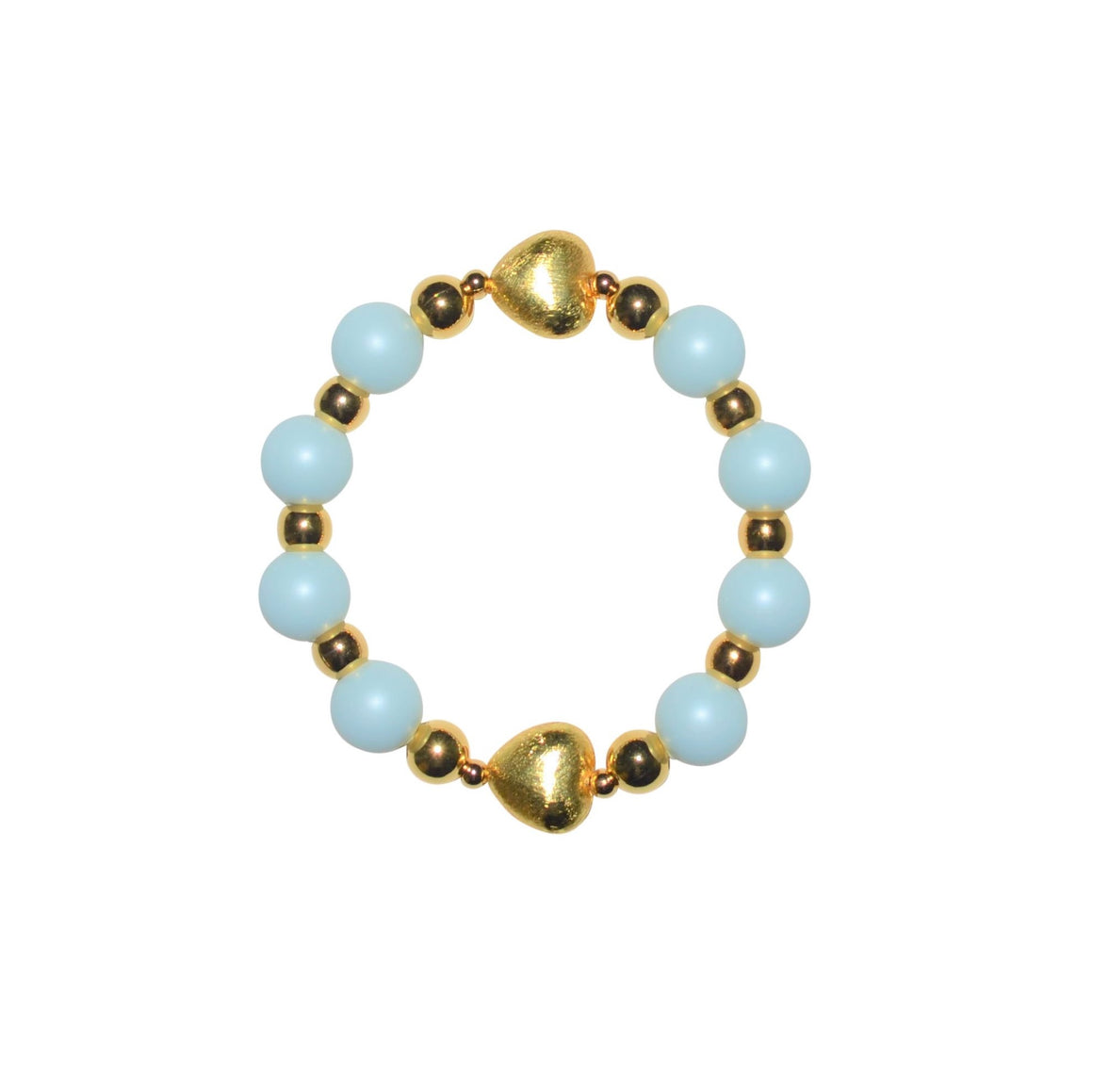 TATE HUDSON SWAROVSKI LIGHTEST BLUE PEARL HEART BRACELET