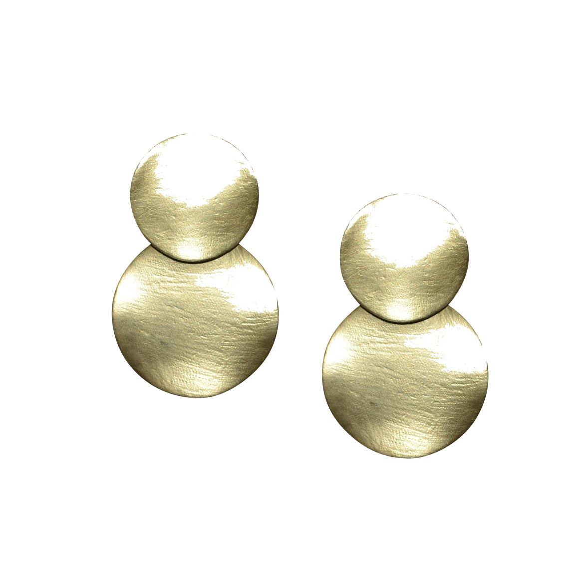 MEGAN MATTE GOLD DISK EARRING
