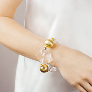 LILLY BRACELET IN GOLD & LUCITE