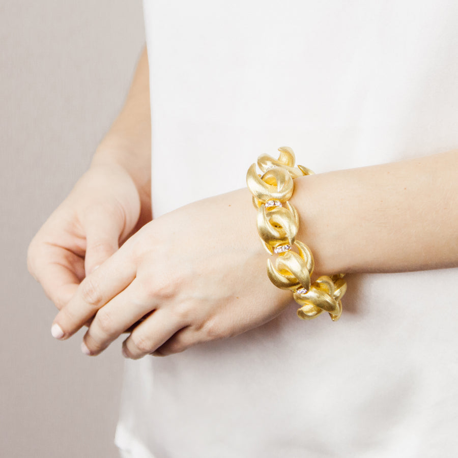 LUNA STATEMENT BRACELET IN GOLD
