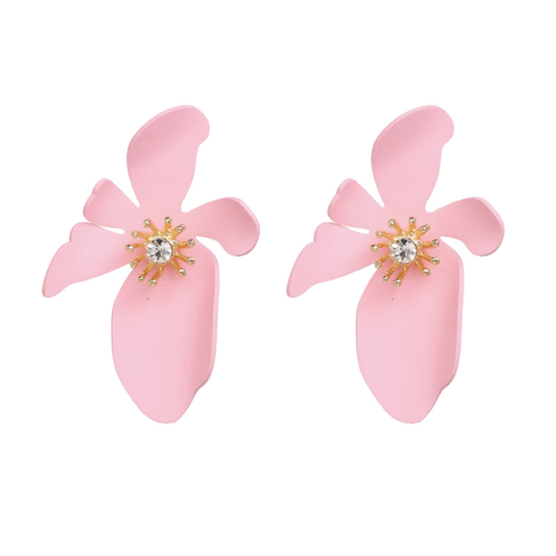 Evelyn Flower Earring in Light Pink