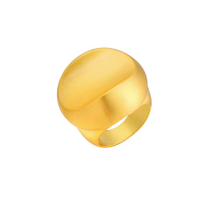 NAOMIE BRUSHED GOLD WAVE RING