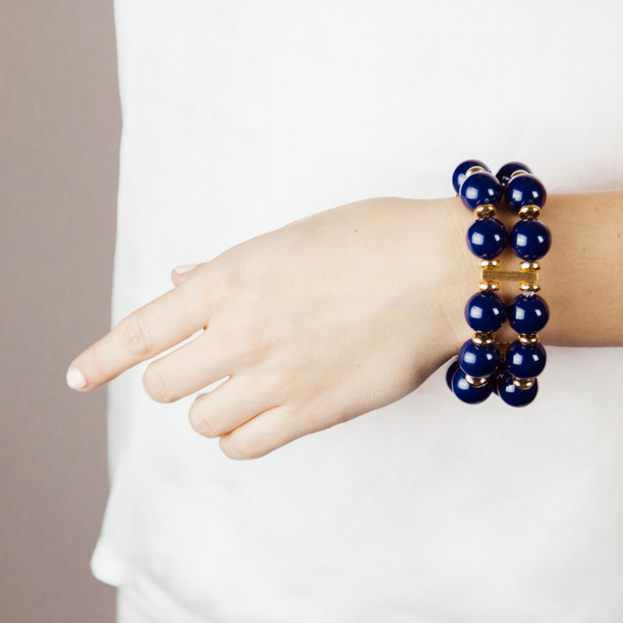 SAVANNAH CUFF IN NAVY BLUE