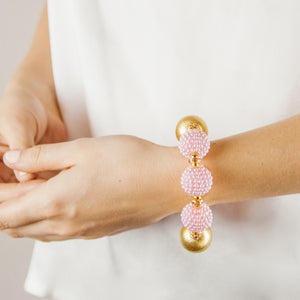 VIVIENNE BRACELET IN LIGHT PINK RASPBERRY