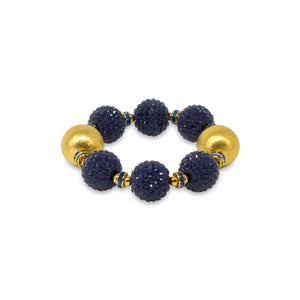 VIVIENNE BRACELET IN NAVY BLUE