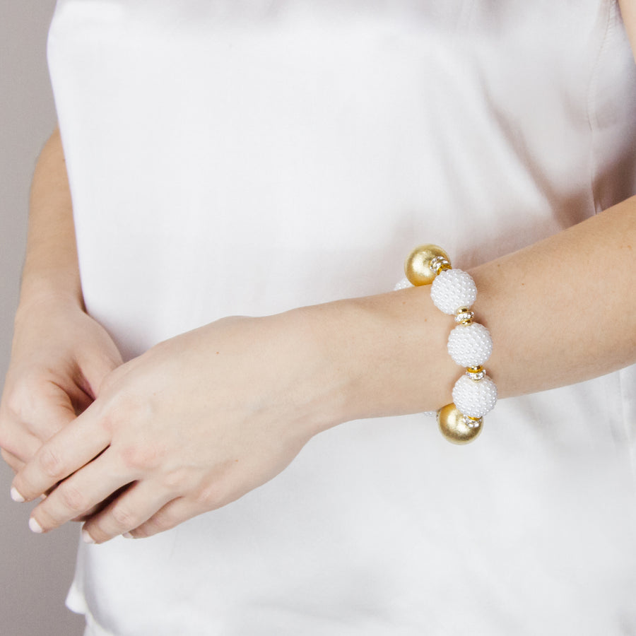 VIVIENNE BRACELET IN WHITE RASPBERRY