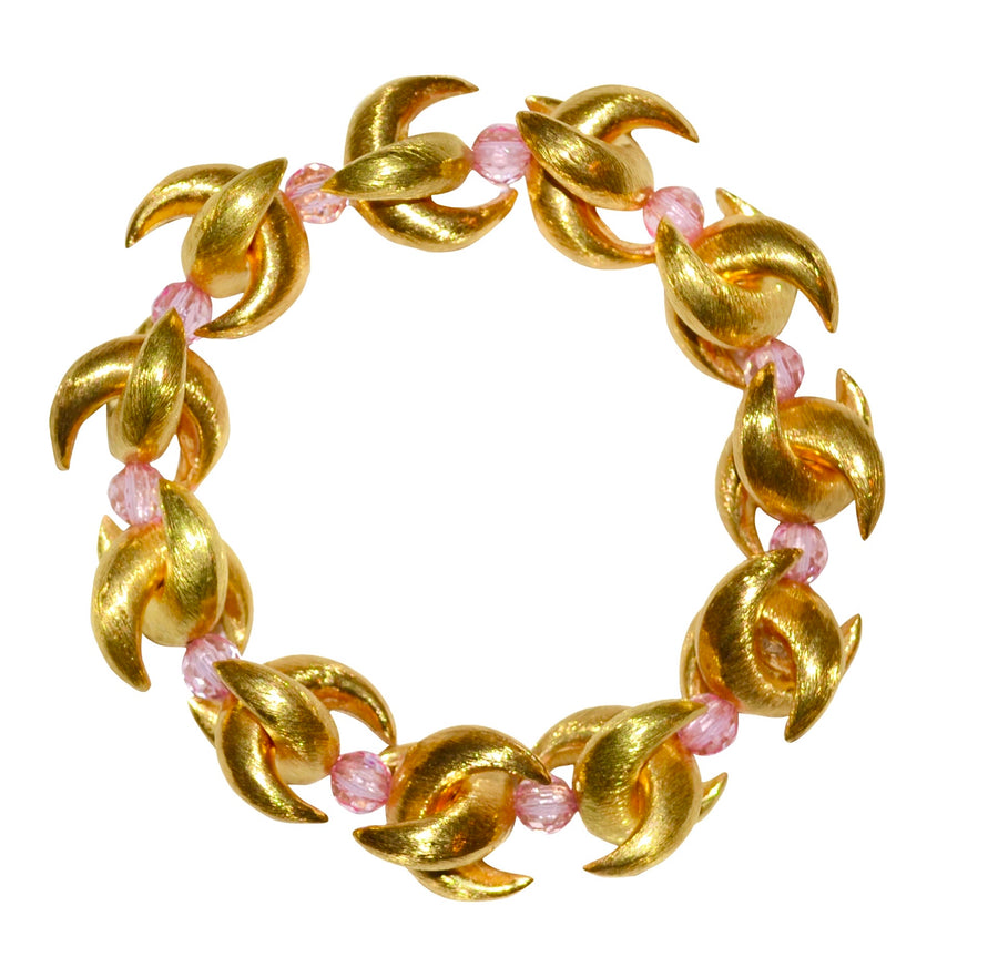 LUNA BANGLE IN GOLD AND PINK