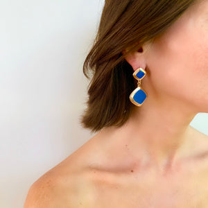 MEREDITH DROP EARRING IN BLUE