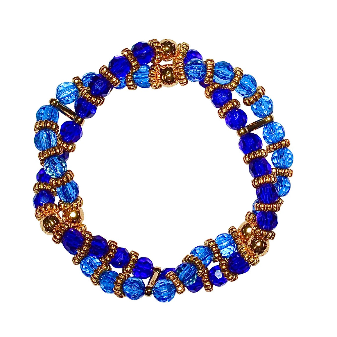 BIANCA LUCITE TWISTED BRACELET IN BLUE