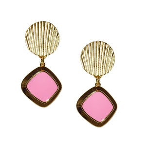RACHEL DROP EARRING IN PINK