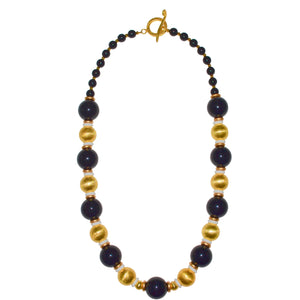 BLAKE LONG NECKLACE IN BLACK