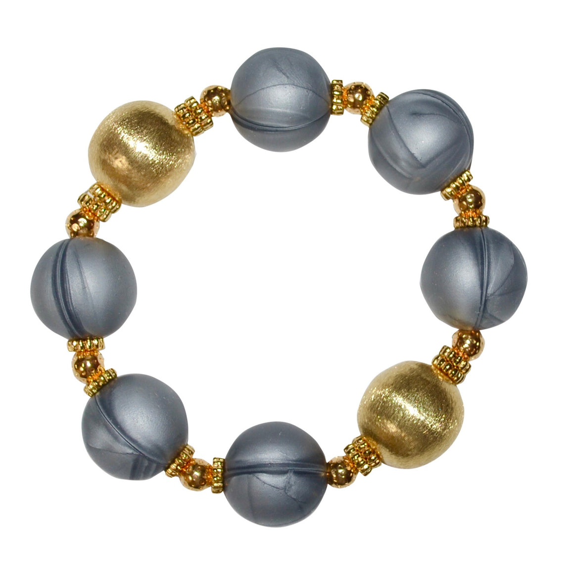 TESSA STATEMENT BRACELET IN GRAY AND GOLD