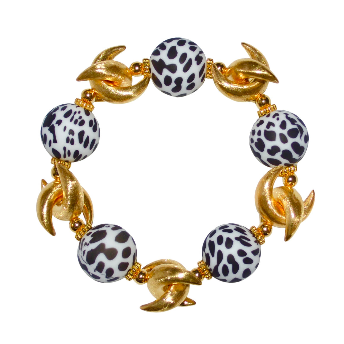 LUNA BANGLE IN DALMATIAN