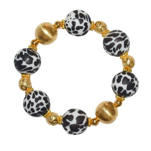 TESSA STATEMENT BRACELET IN DALMATIAN AND GOLD