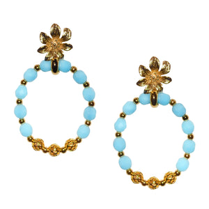 DOROTHY PINEAPPLE EARRING IN LIGHT TURQUOISE