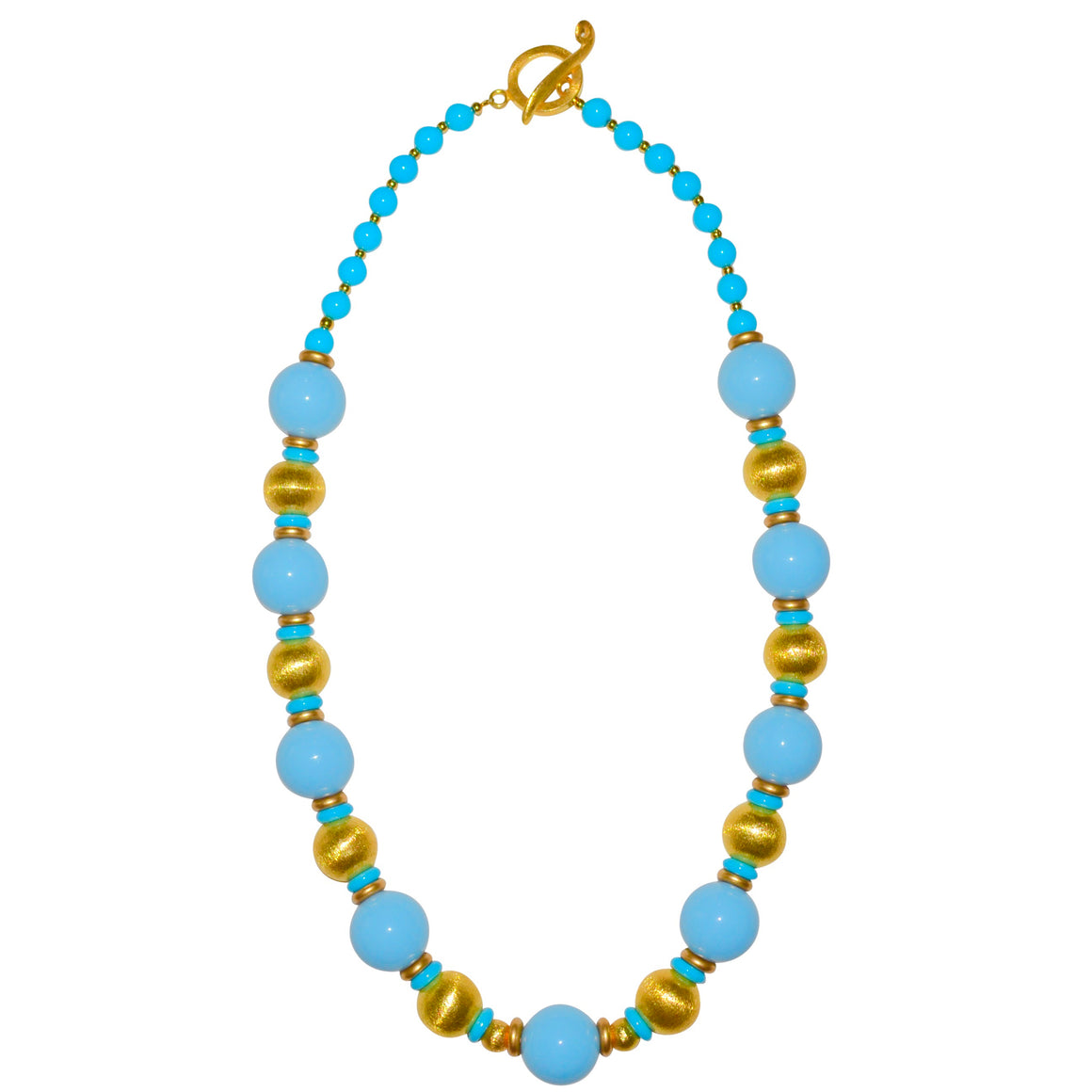 BLAKE LONG NECKLACE IN LIGHT BLUE