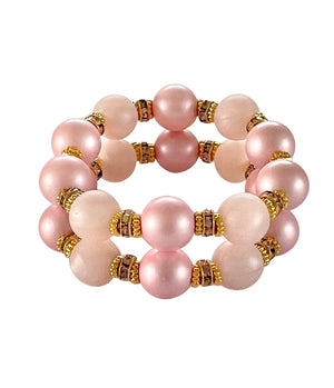 SAVANNAH CUFF IN TWO PINKS