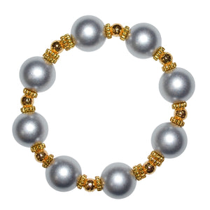 VIVIENNE BANGLE IN SILVER MATTE PEARL