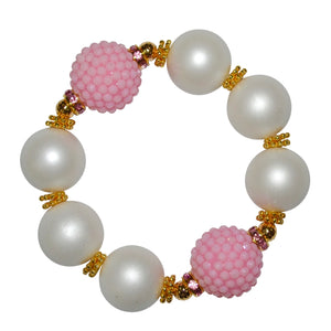 FLASH SALE! CAMILLA STATEMENT BRACELET IN MATTE PEARL AND PINK