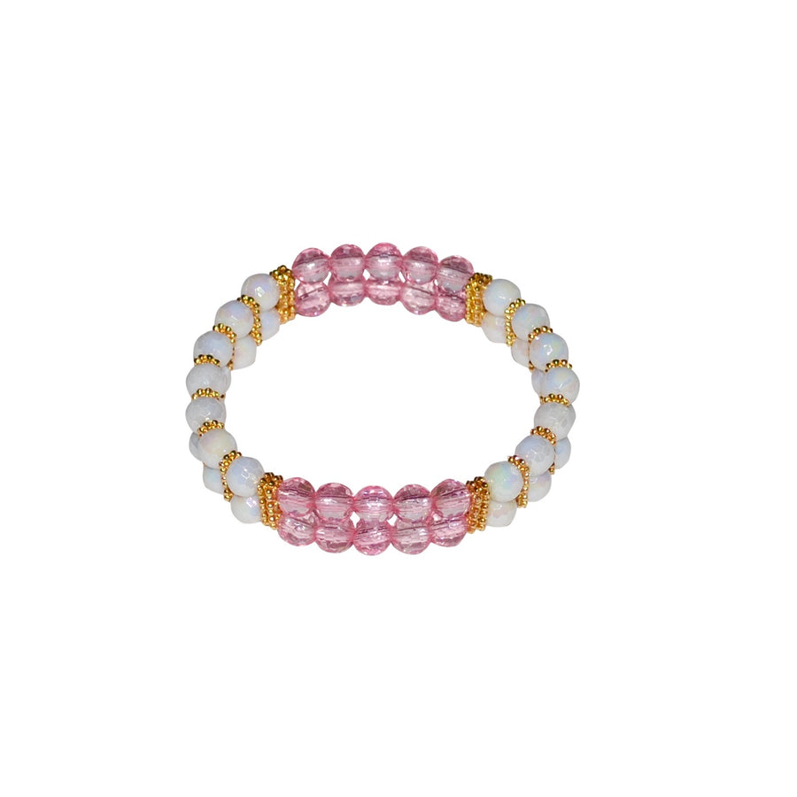 TATE HUDSON MINI CUFF IN WHITE AND PINK